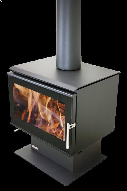 Freestanding Wood Heaters Wood Heater Eureka Pearl Heats Up to 260M2