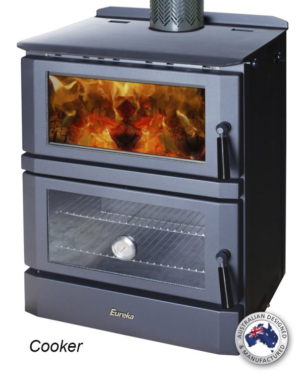 Cooking Wood Heater Eureka Cooker Radiant and Functional Oven