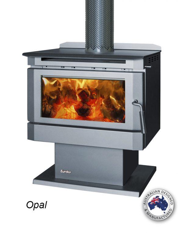 Freestanding Wood Heaters Wood Heater Eureka Opal Heats up to 180m2