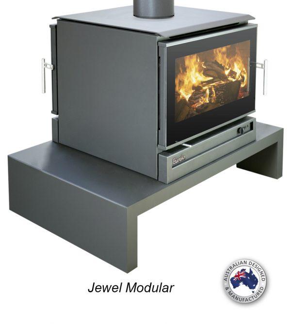 Freestanding Wood Heaters Wood Heater Eureka Jewel Modular – Double Sided
