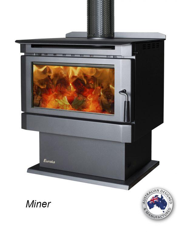Freestanding Wood Heaters Wood Heater Eureka Miner Heats up to 260m2